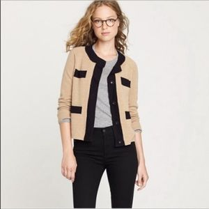 J Crew 100% Merano Wool Cardigan Layer Sweater S